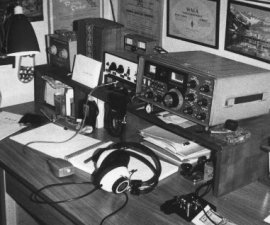 GM5AXY station about 1975 with FT101